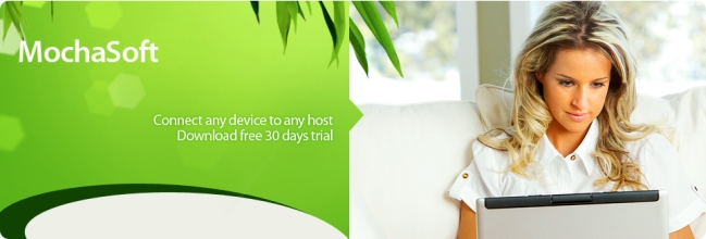 Mochasoft - connect any device to any host - download free 30 days trial