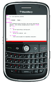 Mocha Telnet for Blackberry