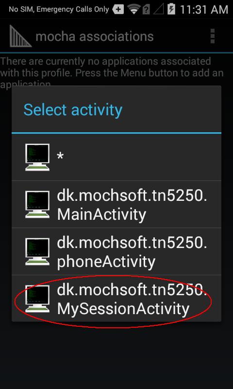 Mocha TN5250 for Android
