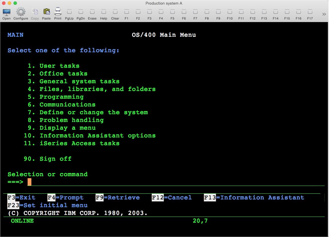 free 5250 emulator for mac