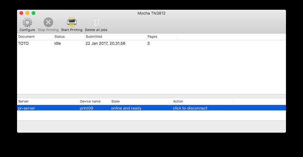 MochaSoft - TN3812 AS/400 Printer emulation for Mac OS X